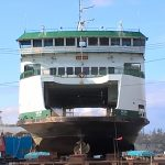 Anacortes History Tour - ferry at dry dock