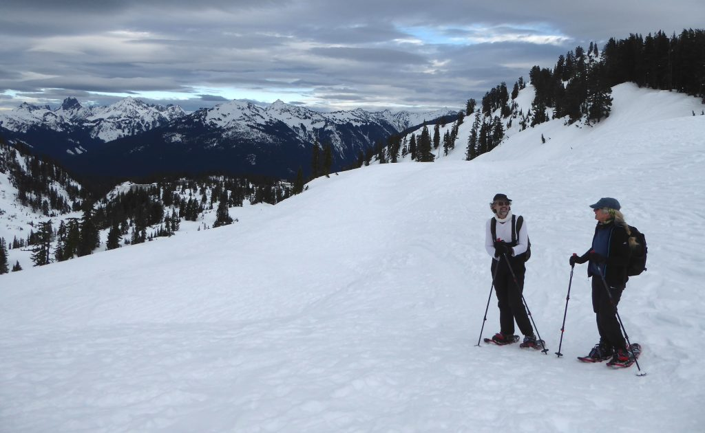 north cascades guided snowshoeing mount baker
