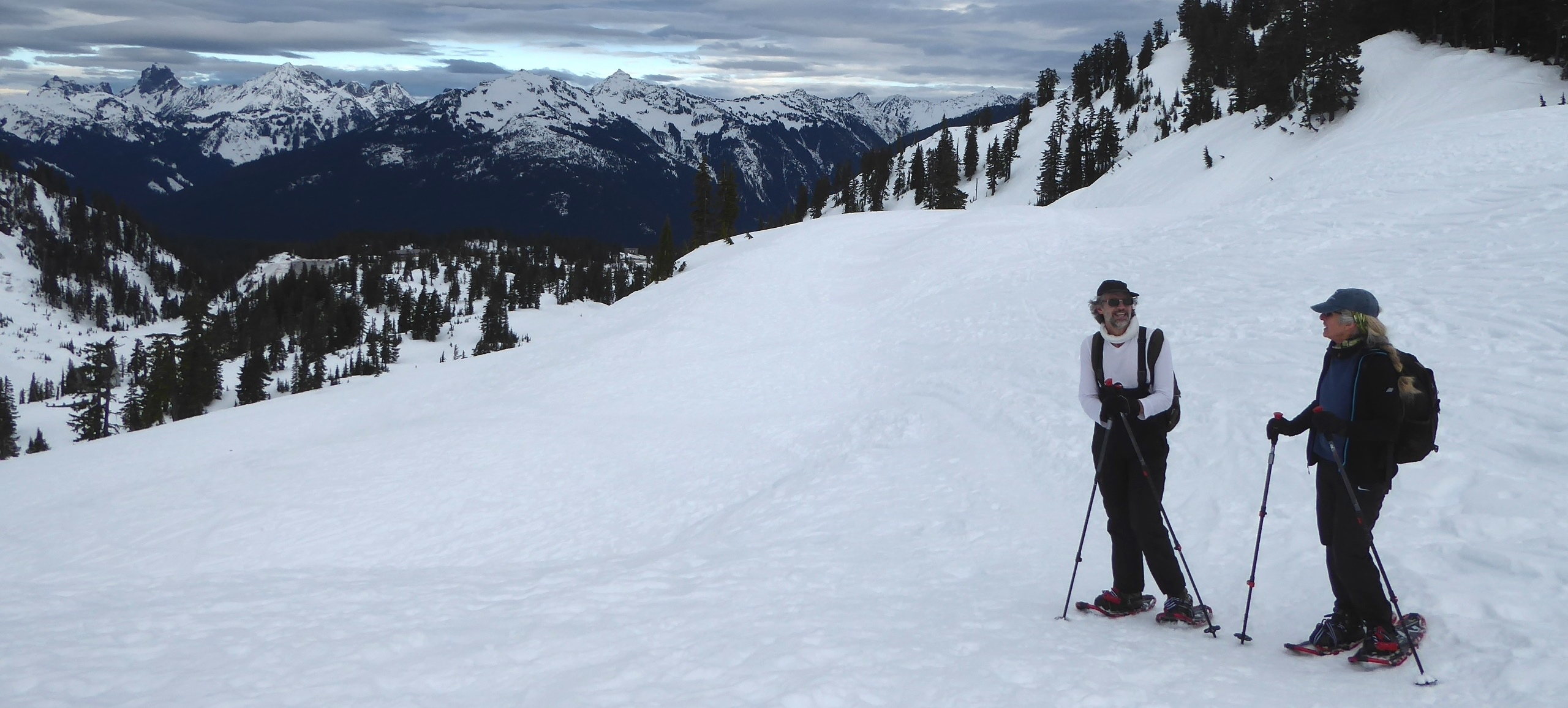 north cascades guided snowshowing
